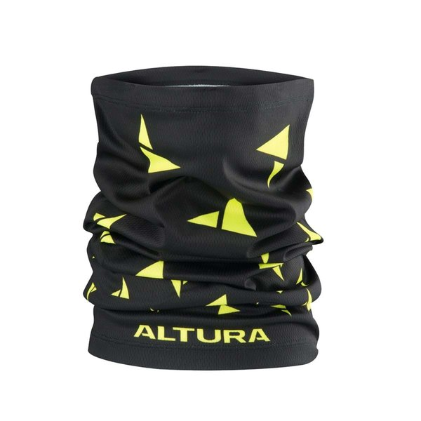 Altura Altura Neckwarmer Black/Hi-Viz Yellow One Size
