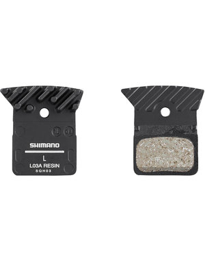 Shimano Disc Brake Pads Shimano L03A with cooling fins, resin (L02A Replacement)