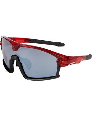Madison Clothing Madison Code Breaker glasses 3-lens pack - gloss crystal red / matt black frame, silver mirror, smoke, clear lenses