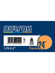 Nutrak Inner Tube 24 x 1.75 – 2.12, Presta Valve, (tube24)