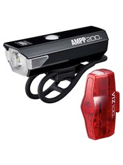 CatEye Cateye Ampp 200 & Viz 100 USB Rechargeable Lights Set