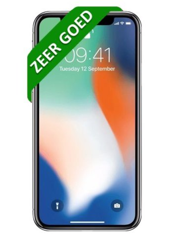 ACTIE: iPhone X - 256GB - Silver