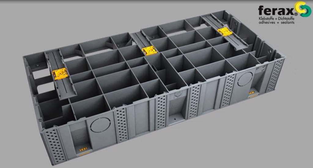 Modulesca - das modulare Treppensystem für den Außenbereich. Ein patentiertes System aus glasfaserverstärktem Polypropylen.
