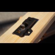 FixingGroup DILA2 - Universal-Terrassenverbinder 17 mm  schwarz  VPE 50 St.