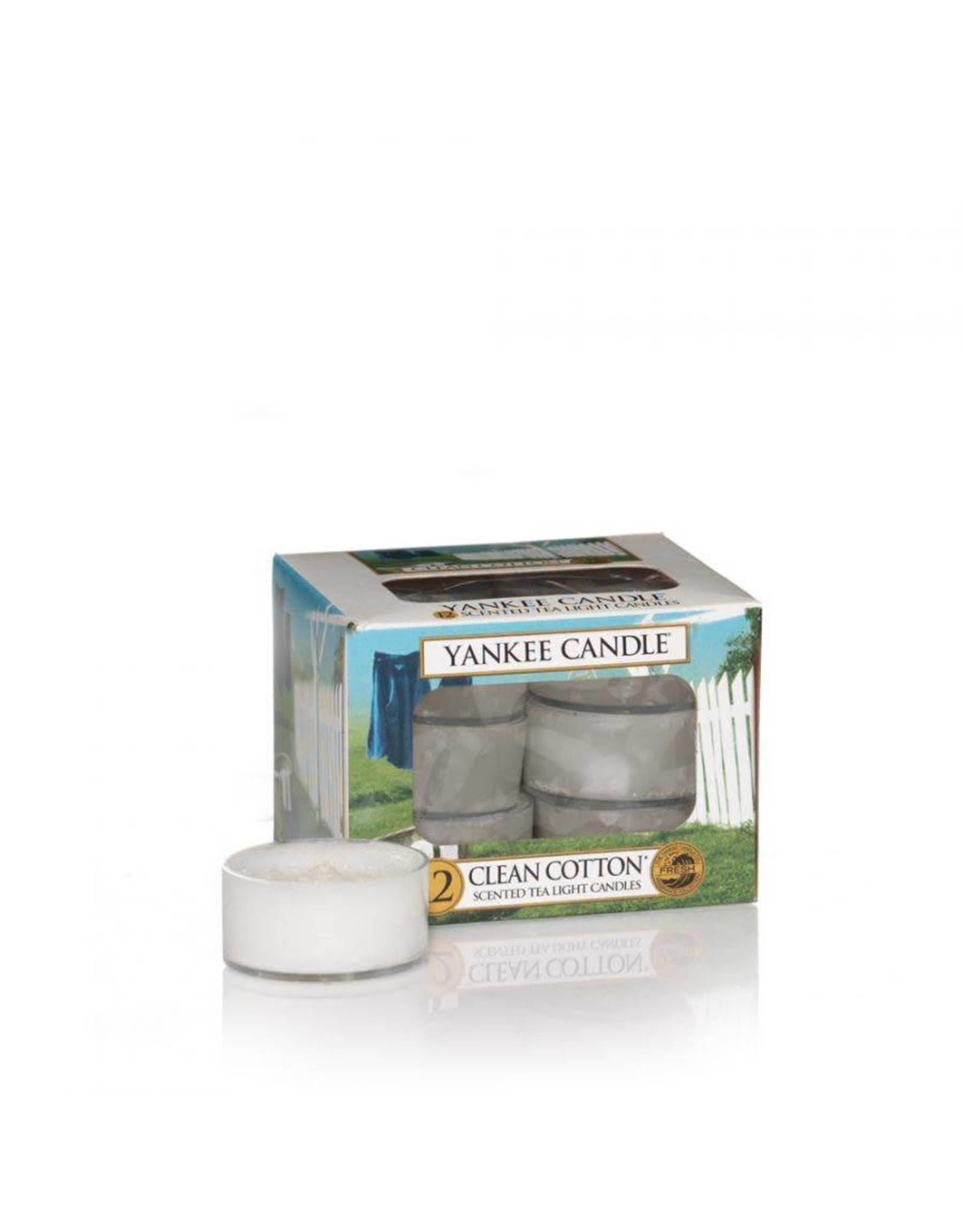 Yankee Candle Clean Cotton Tea Lights 12 st