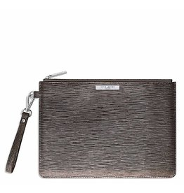Katie Loxton Clutch - Metallic Charcoal