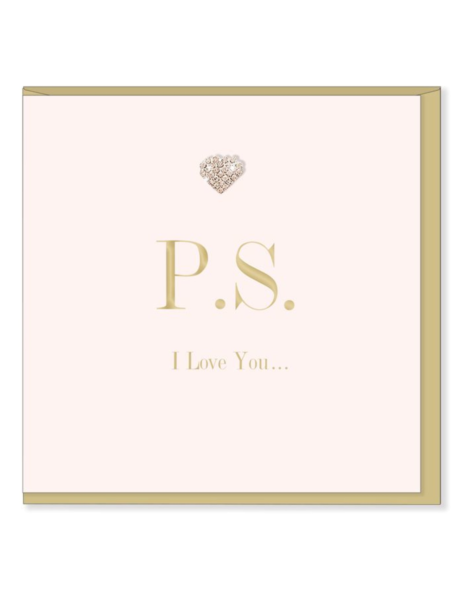 Hearts Design Wenskaart - PS I love you