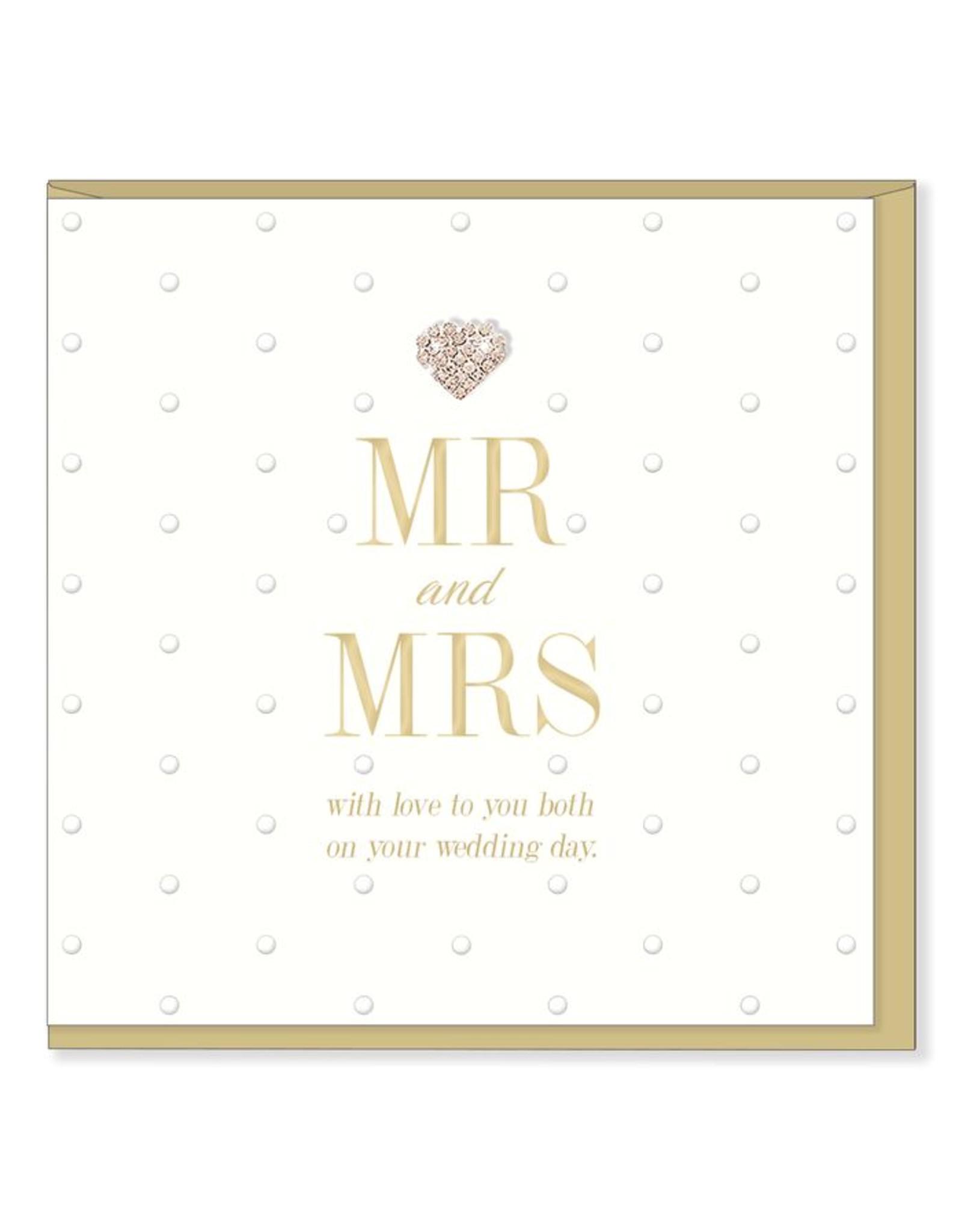 Hearts Design Wenskaart - MR & MRS
