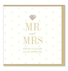 Hearts Design Wenskaart - MR & MRS