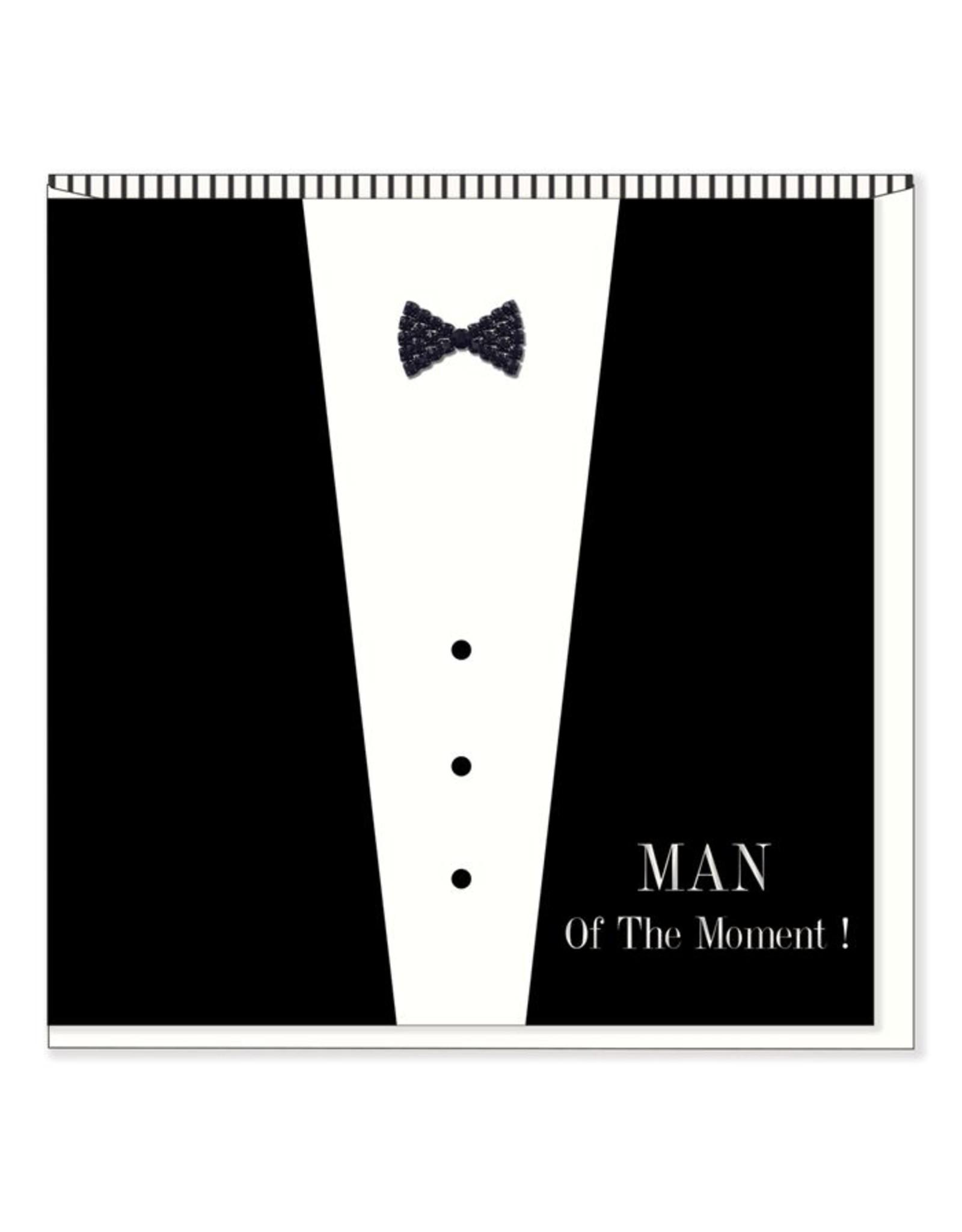 Hearts Design Wenskaart - Man of the moment! Happy birthday