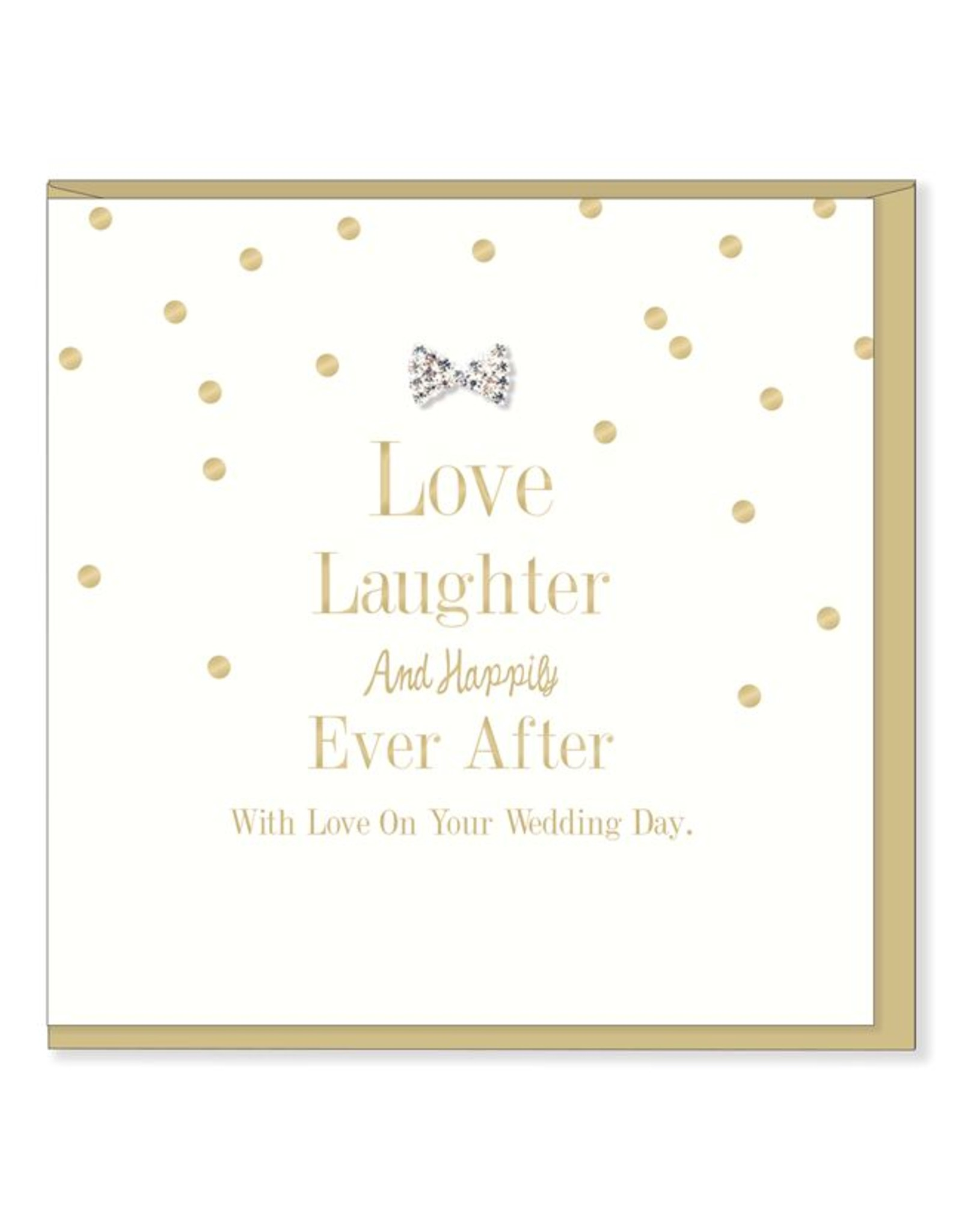 Hearts Design Wenskaart - Love, Laughter, happily ever after