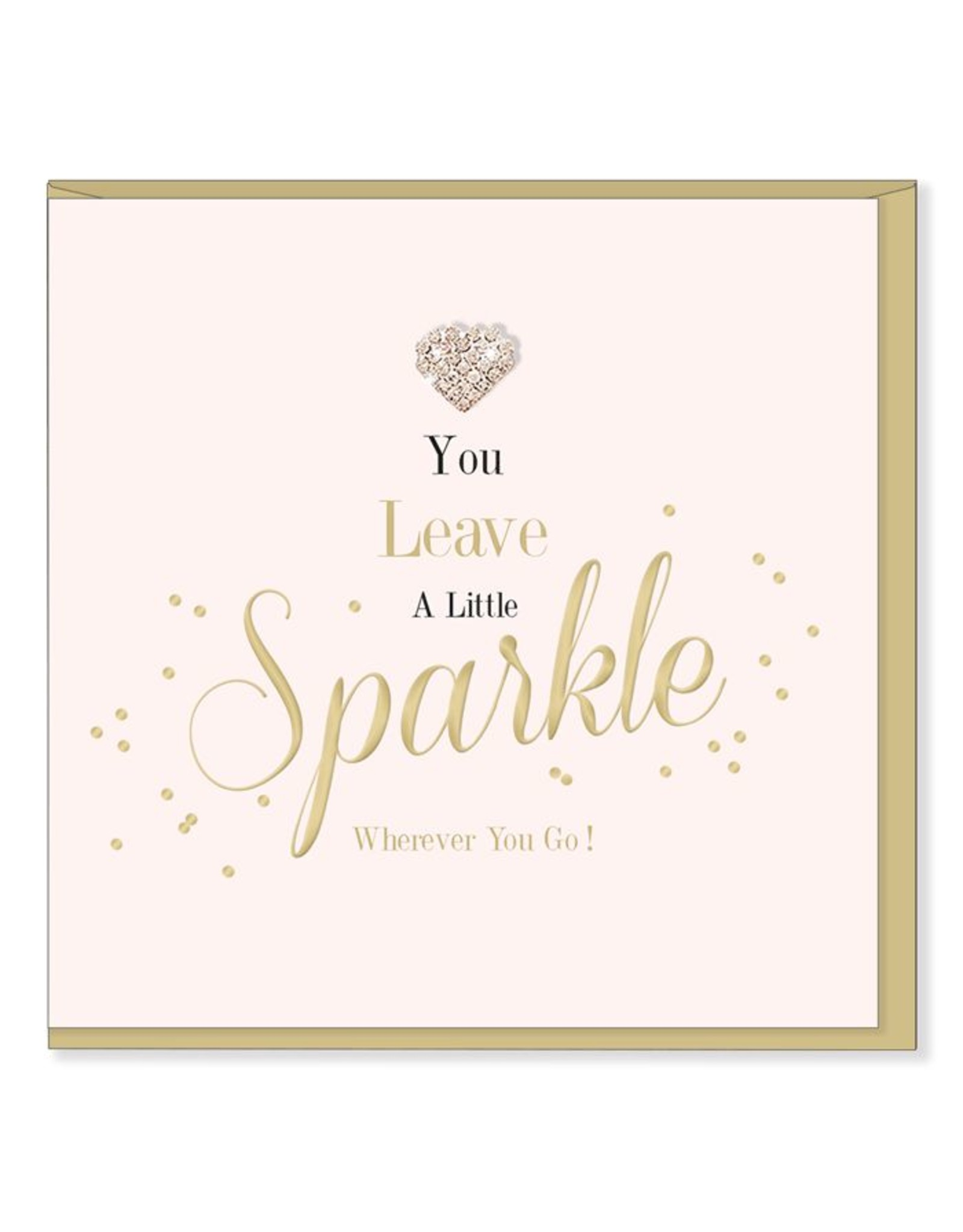 Hearts Design Wenskaart - Leave a little sparkle
