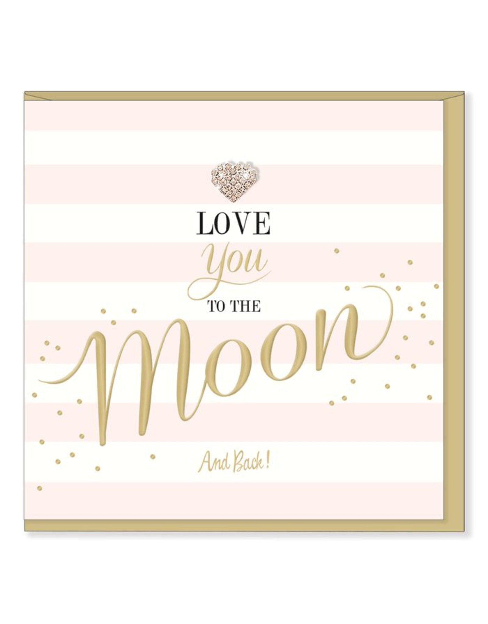 Hearts Design Wenskaart - I love you to the moon