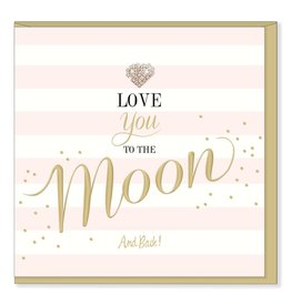 Hearts Design I love you to the moon