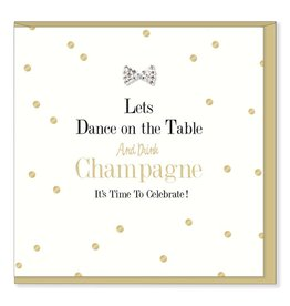 Hearts Design Dance on the table & Drink Champagne