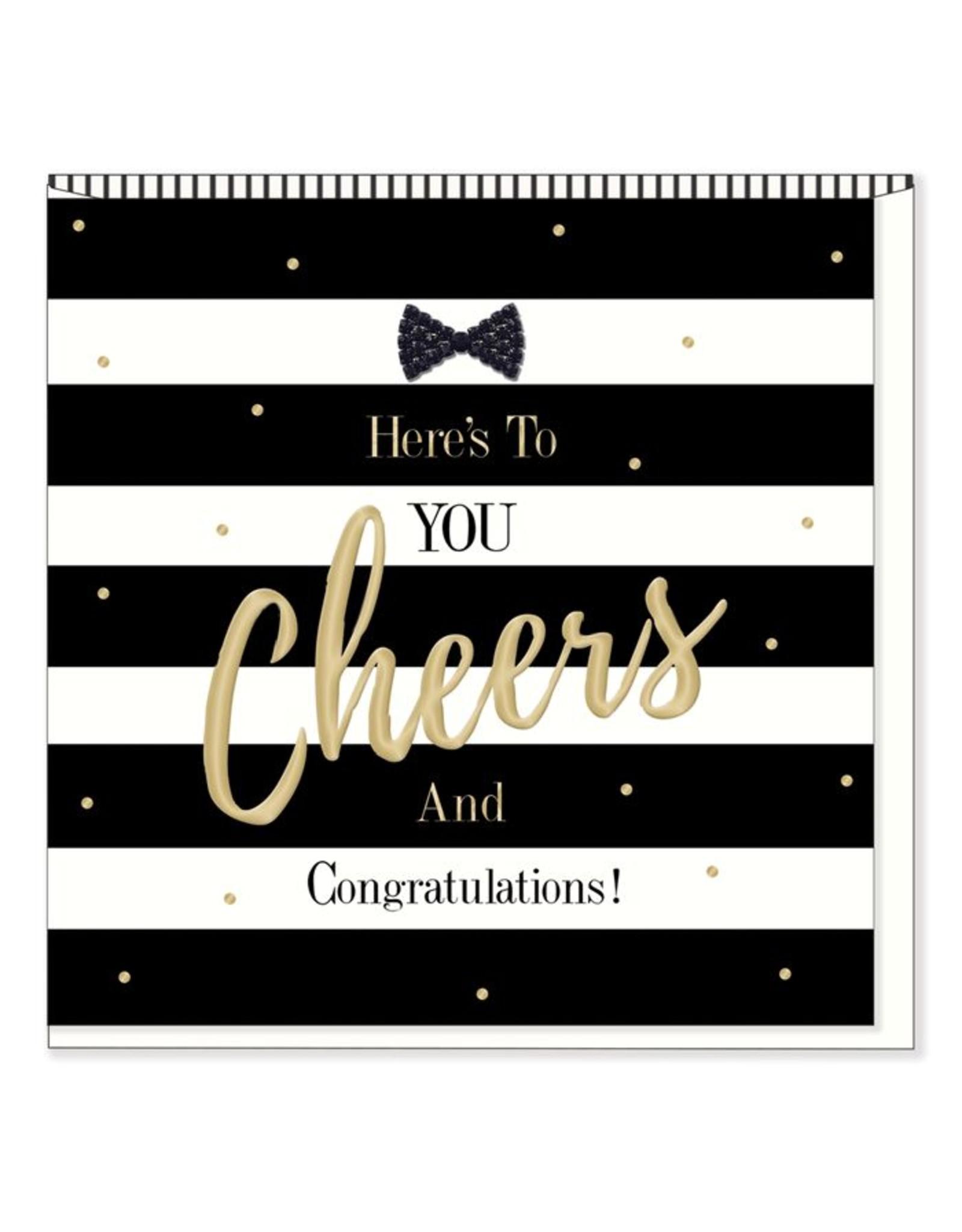 Hearts Design Wenskaart - Cheers & Congratulations