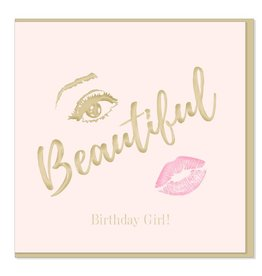 Hearts Design Beautiful Birthday Girl