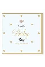 Hearts Design Wenskaart - Beautiful Baby Boy