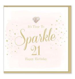 Hearts Design Wenskaart - Sparkle 21
