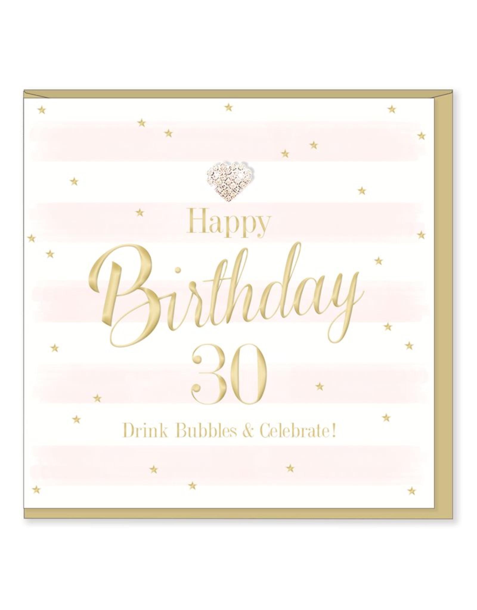 Hearts Design Wenskaart - Birthday 30