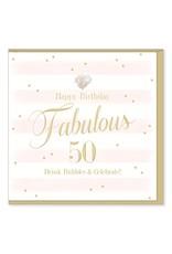 Hearts Design Wenskaart - Fabulous 50
