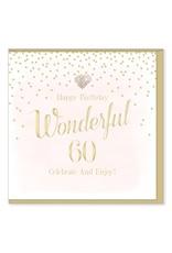Hearts Design Wenskaart - Wonderful 60