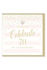 Hearts Design Wenskaart - Celebrate 70
