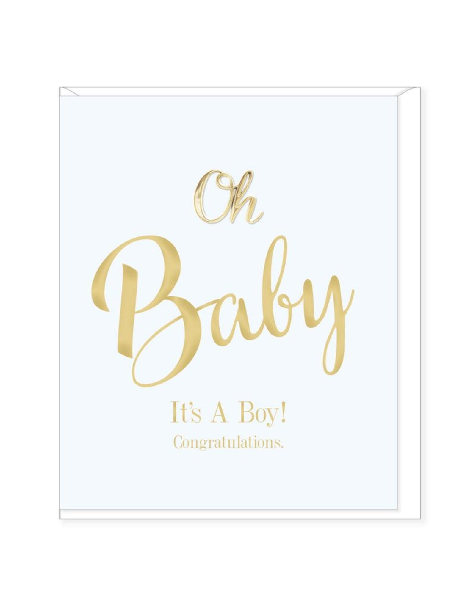 Hearts Design Wenskaart - Oh Baby, it's a Boy!