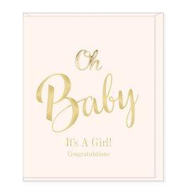 Hearts Design Wenskaart - Oh Baby, it's a Girl!