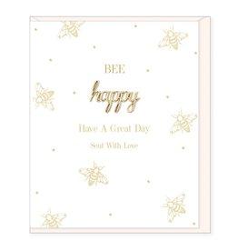 Hearts Design Wenskaart - Bee Happy