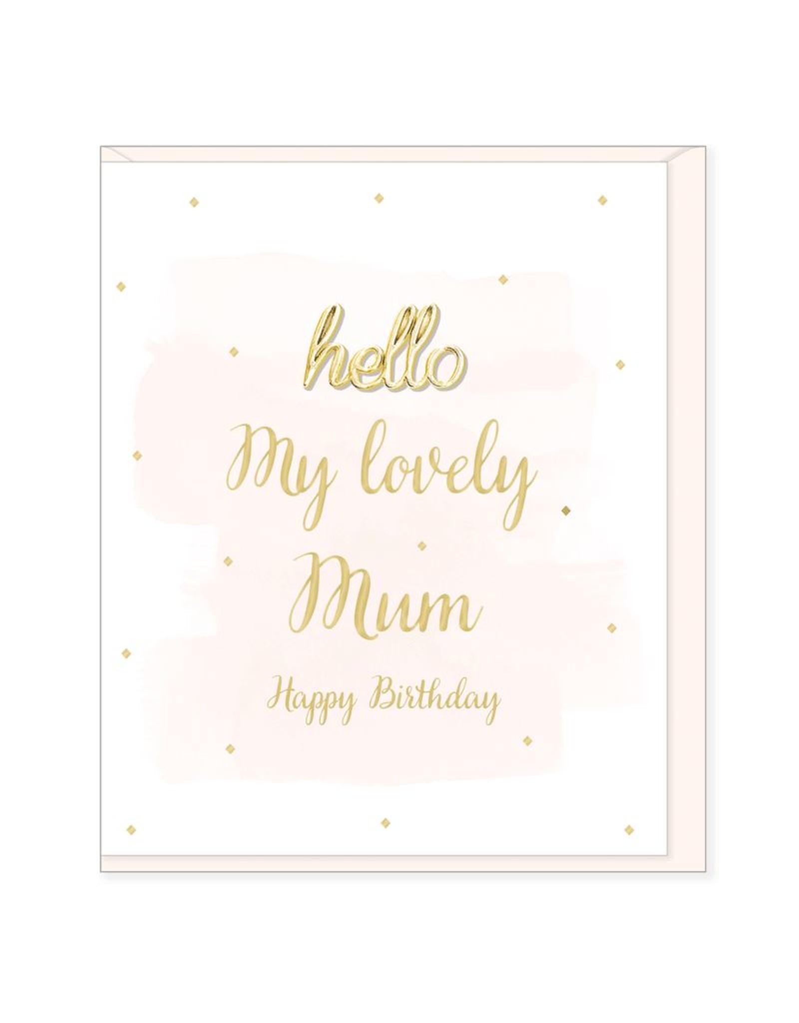 Hearts Design Wenskaart - Lovely Mum, Happy Birthday
