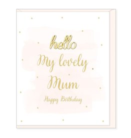 Hearts Design Lovely Mum, Happy Birthday