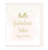 Hearts Design Fabulous Sister, Happy Birthday