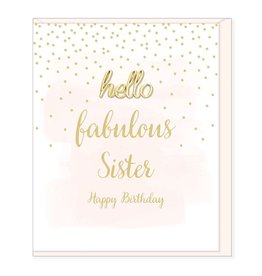 Hearts Design Fabulous Sister, Happy Birthday
