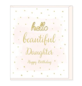 Hearts Design Beautiful Daughter, Happy Birthday