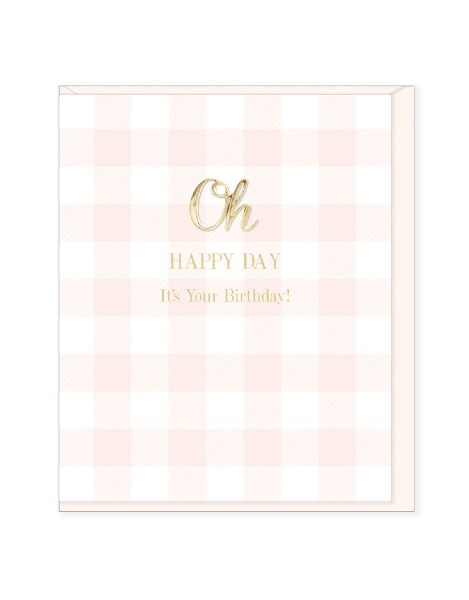 Hearts Design Wenskaart - Oh Happy Day, it's your Birthday