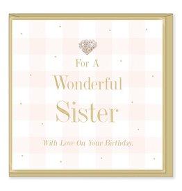 Hearts Design Wonderful Sister Birthday