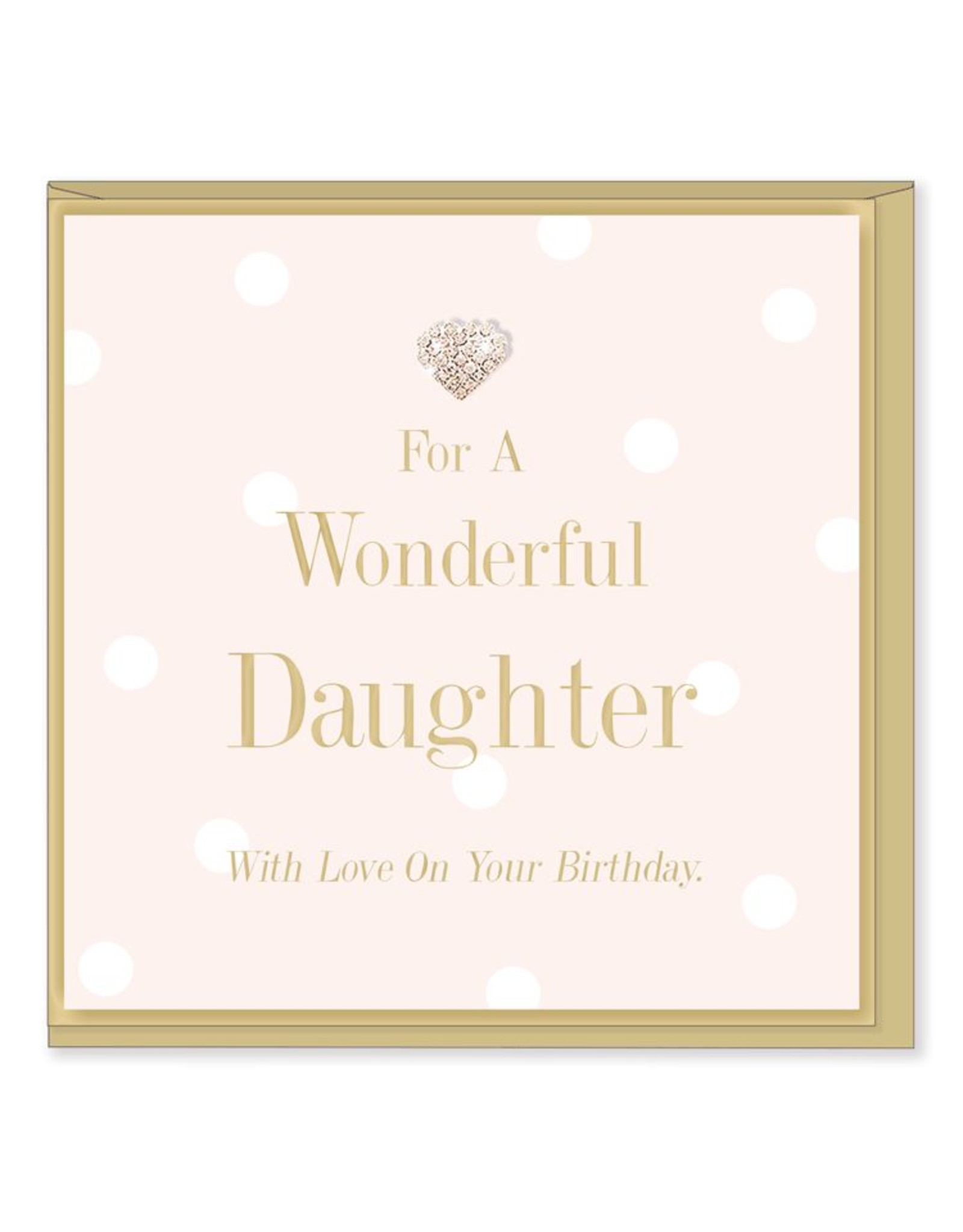 Hearts Design Wenskaart - Wonderful Daughter - Birthday