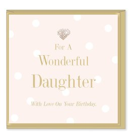 Hearts Design Wonderful Daughter - Birthday