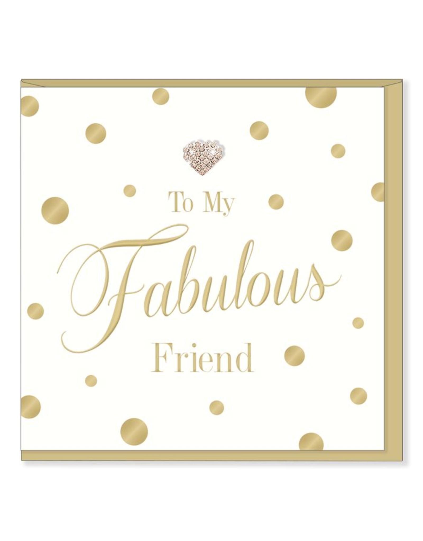 Hearts Design Wenskaart - Fabulous Friend