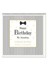 Hearts Design Wenskaart - Happy Birthday Mr Amazing