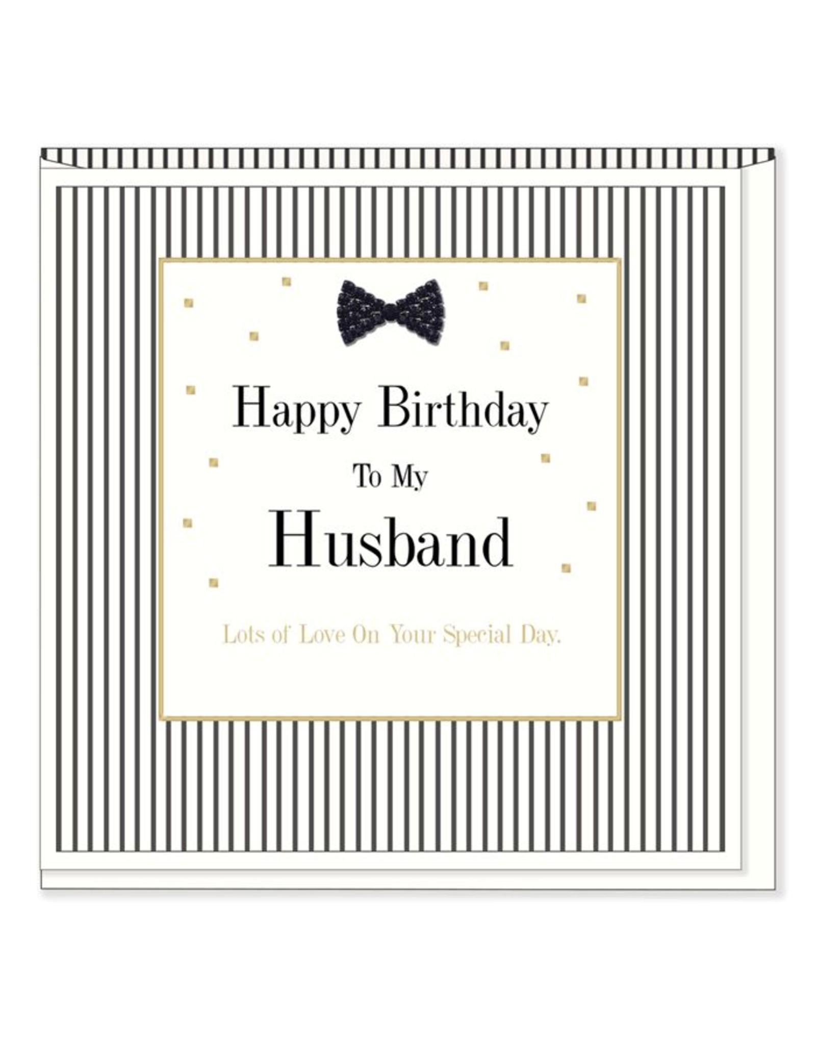 Hearts Design Wenskaart - Happy Birthday to my Husband