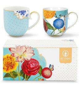 Pip Studio Royal Blue - Tassen Set/2 Klein
