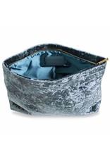 Katie Loxton Pochette Velvet - Crushed Blue