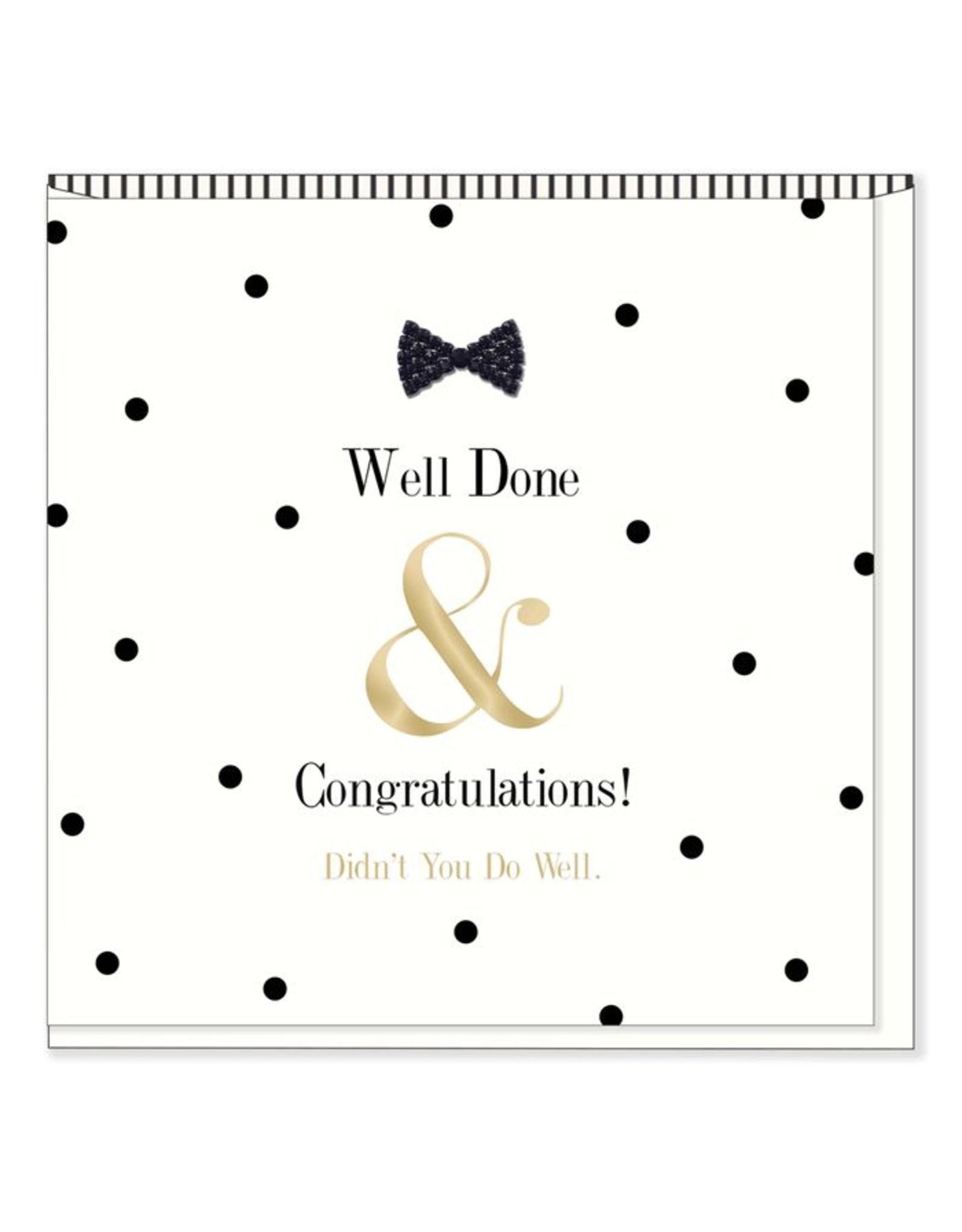 Hearts Design Wenskaart - Well done & Congratulations