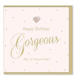 Hearts Design Wenskaart - Happy Birthday Gorgeous