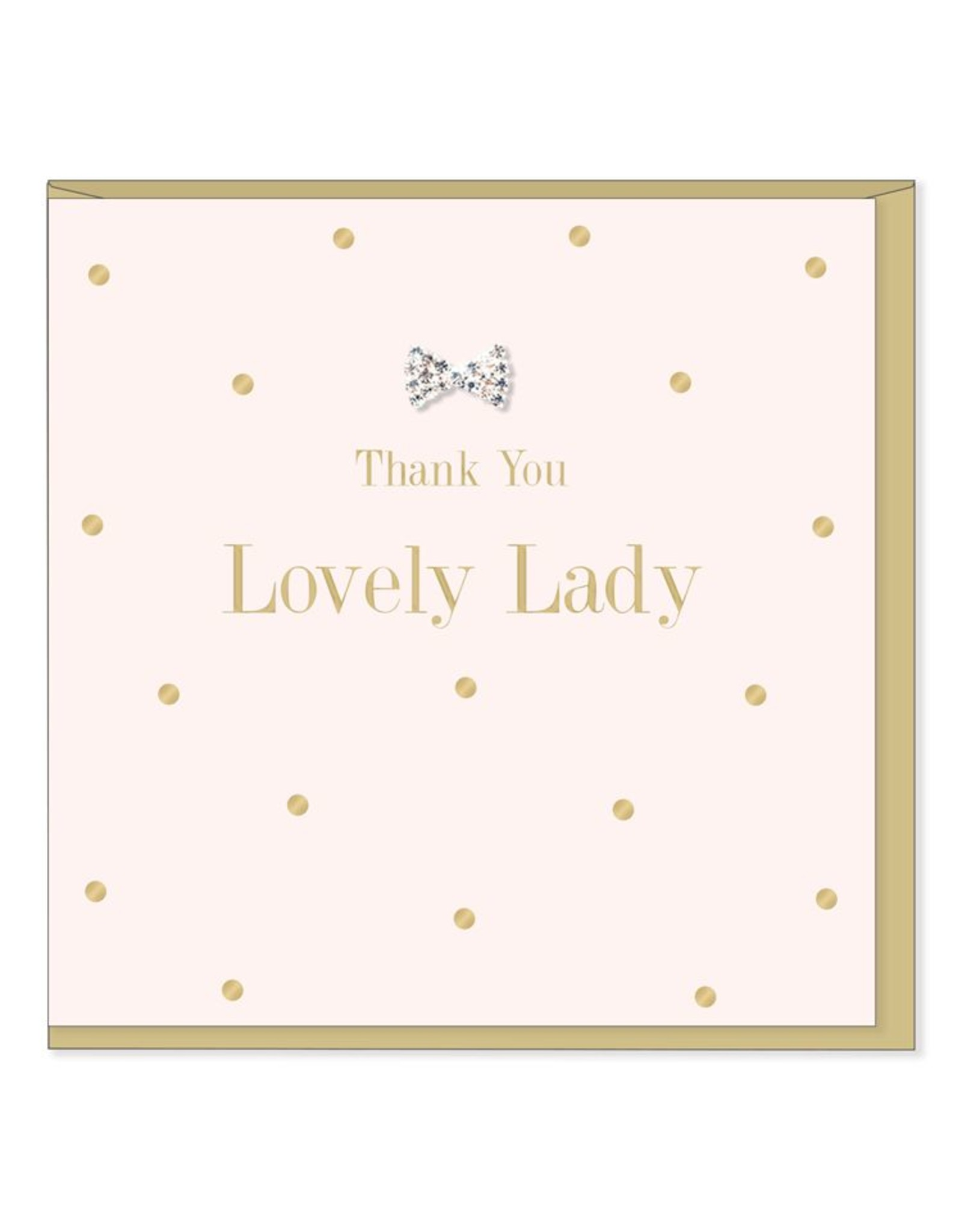Hearts Design Wenskaart - Thank you lovey lady