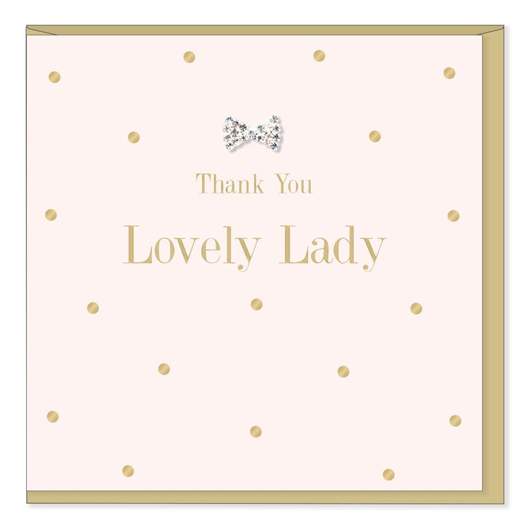 Hearts Design Thank you lovey lady