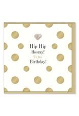 Hearts Design Wenskaart - Hip Hip Hooray