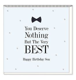 Hearts Design Wenskaart - Happy Birthday Son